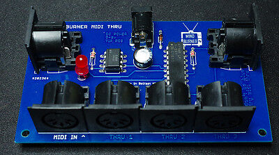5 way MIDI Thru Splitter unit for synthesizers and modules, New high Quality