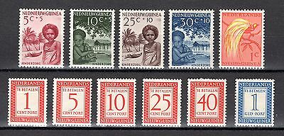 Netherlands New Guinea 1957 Child Welfare Fund + Postage Dues Light Mounted Mint