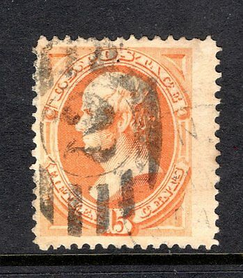USA 1879 DANIEL WEBSTER 15 cents  ORANGE GOOD TO FINE USED STAMP NOT CAT BY ME