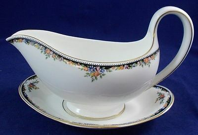 Saucière & Soucoupe WEDGWOOD Osborne sauce boat and stand