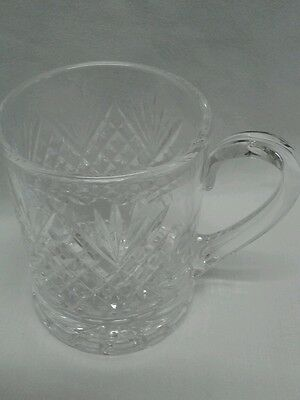 Vintage Royal Brierley Stirling 1 Pint Tankard Crystal Cut Glass 1 Pt Marked