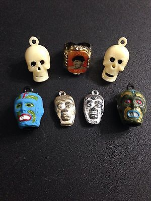 Vintage Rare Monster Flicker Gumball Vending Charm Pencil Topper Prize Toy Lot