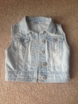 Girls New Look Denim Gilet Age 9 New With Tags