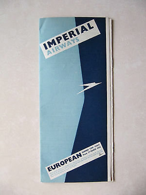 Imperial Airways European Timetable 27 Mar 1938 pages 12