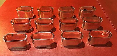 12 Silver Plate Napkin Ring/Holders - NO Monograms