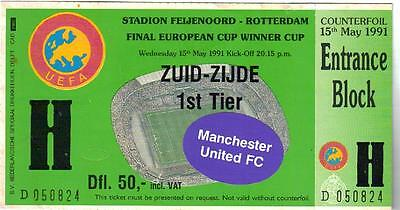 Manchester United Versus F.c. Barcelona European Cup Winners Cup Final 1991