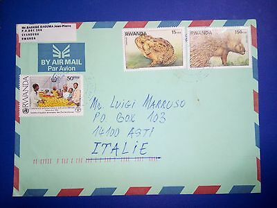 Rwanda Stamps & Cover Air Mail To Italie