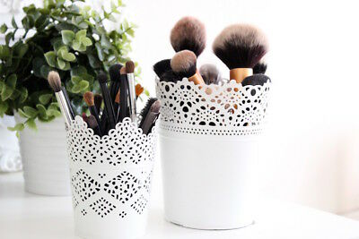Make Up Brush Holder Pots White One Large + One Small Free Delivery Uk Seller