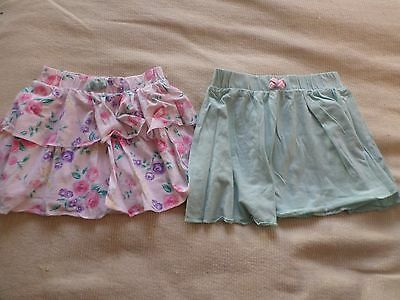 2 x girls 2-3 years skirts