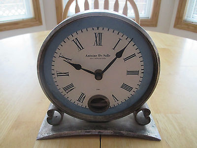 VTG Antoine De Salle Clock, Made by Timeworks Inc. Battery Op. In Working Order