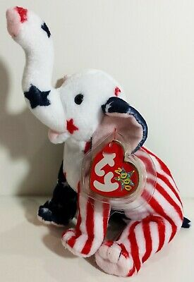 "TY Beanie Babies ""LEFTY 2000"" the Election DEMOCRATIC DONKEY - MWMTs! RETIRED!"