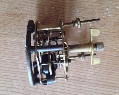 Vintage Clocks Brass Mantle Clock Mechanism - Spares And Repairs