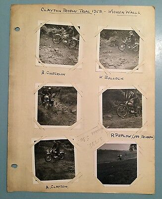 Clayton Trophy Motorcycle Trial 1958 -Wicken Walls Buxton Derbyshire photographs