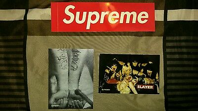 Supreme FW16 Slayer and others 5 Sticker lot