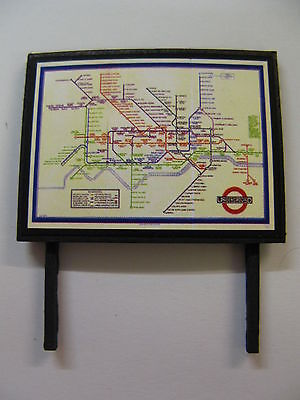 London Underground Rail Service Map Model Railway Billboard - N Gauge & OO Gauge