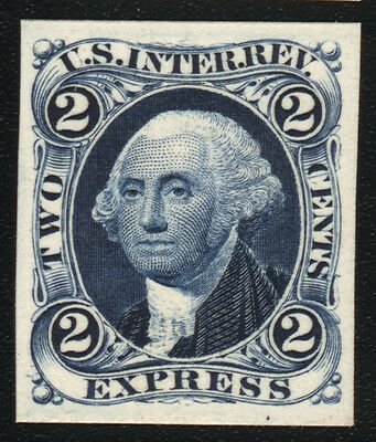 R9P4 2¢ EXPRESS 1862 Revenue Tax Proof Stamp on Card CV $28