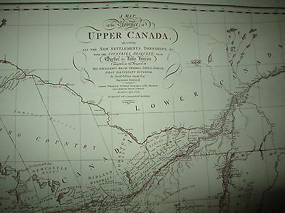 1813 Map of Upper Canada Quebec to Lake Huron Smyth Limited Edition 1979 Repro