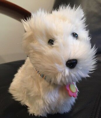 American Girl Doll Coconut the Westie Terrier Pet Dog w Charm Collar