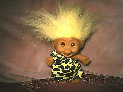 "VINTAGE,  CAVEMAN  TYPE  TROLL  DOLL. 8""  TALL. (approx).inc  HAIR.."