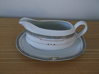 'The Westminster' Fine Porcelain Gravy/Sauce Boat and Stand