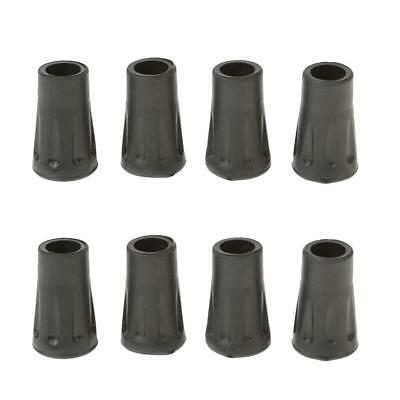 8pcs Replacement Rubber Tips Feet Black Rubber Trekking Hiking Pole End Caps