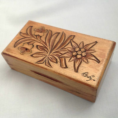 Arts & Crafts Style Wooden Stamp Box