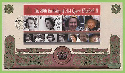 Fiji 2006 QEII 80th Birthday M/S on First Day Cover