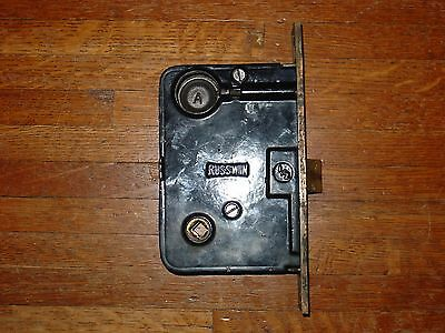 Antique Brass Russwin Entry Mortise Door Lock