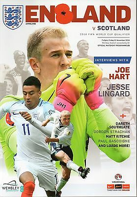 England v Scotland 11th November 2016 FIFA World Cup Qualifier Programme