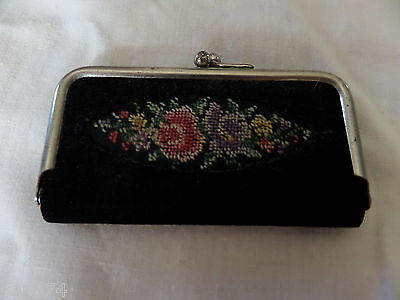 VINTAGE West Germany embroidered mini sewing kit genuine leather Beautiful! New!
