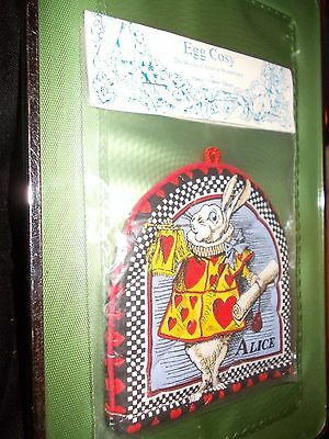 PAST TIMES EGG COSY The World of Alice in Wonderland John Tenniel WHITE RABBIT.