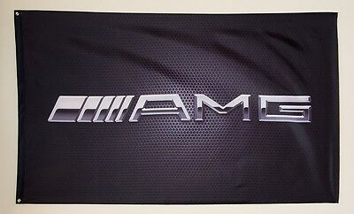 AMG Mercedes - Benz flag Banner HIGH QUALITY MINT 3'x5' 1-sided Grommets sls Slk