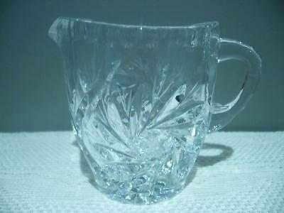 Stunning Vintage Star Etched And Swirl Crystal Creamer / Sauce Jug - Vgc