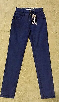 Girls Justice Blue Jeans High Waist Jegging Size 12  NWT!!
