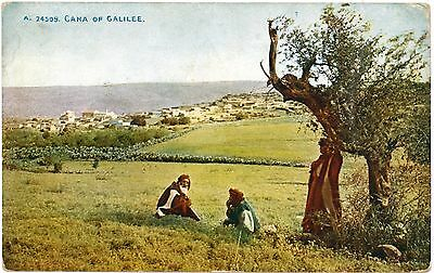 GALILEE CANA Israel London Society Chistianity Jews Vintage Colour PC c1910