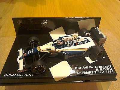 Minichamps 1/43 WILLIAMS FW16 RENAULT - NIGEL MANSELL - GP FRANCE 1994