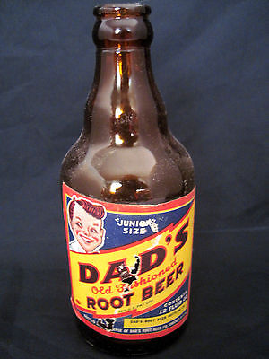 Junior Size Dad's Old Fashioned Root Beer 12 Oz  Bottle