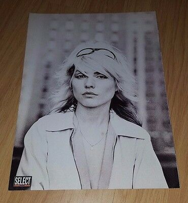 Blondie/debbie Harry Black & White Full Page Magazine Mini Poster