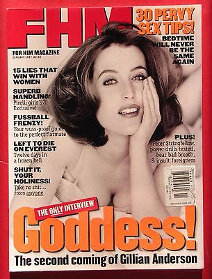 FHM #84 - January 1997 - Gillian Anderson, X-Files - NEWSTAND magazine