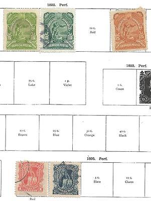 5 Honduras Stamps from Quality Old Album 1892-1895