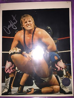 Wwe Owen Hart Official Signed 8X10 Picture With Coa (Rare)