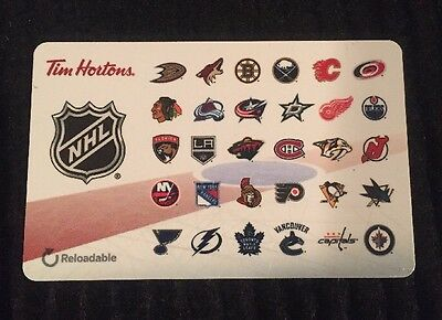 Tim Hortons All Nhl Teams Gift/tim Card New