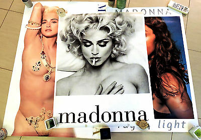 Rare Madonna Erotica Ray Of Light Promo Poster Collection
