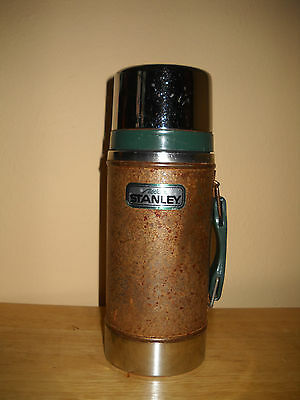 """Vintage ALADDIN Stanley No A-1350B 24 oz """"Wide Mouth"""" THERMOS (Made in USA)"""