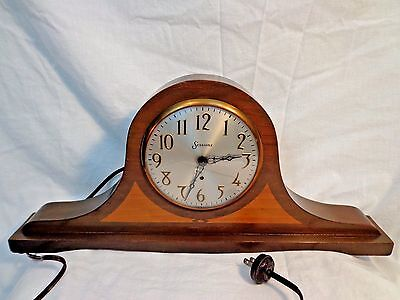 1920s Sessions Spin Start Electric Mantel Clock with Tambour Style Case