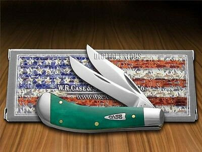 CASE XX Smooth Jade Bone Saddlehorn Stainless Pocket Knives Knife