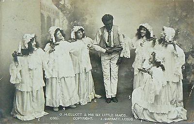 Postcards.g.h.elliott (The Chocolate Coloured Coon) & His Six Little Maids.82-62