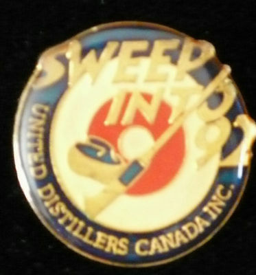 Curling Pin - Sweep into 92 - United Distillers Canada Inc Pin