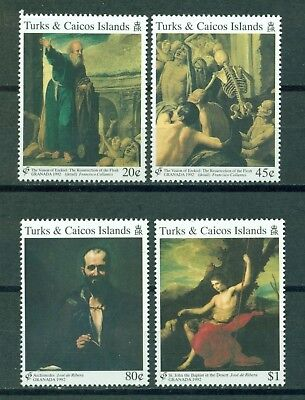 Turks & Caicos Islands Scott #989//994 MNH Spanish Paintings Art CV$9+