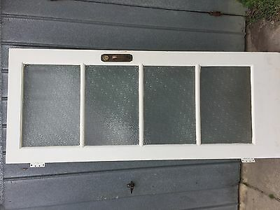 Retro Entrance Door with Speckled Glass